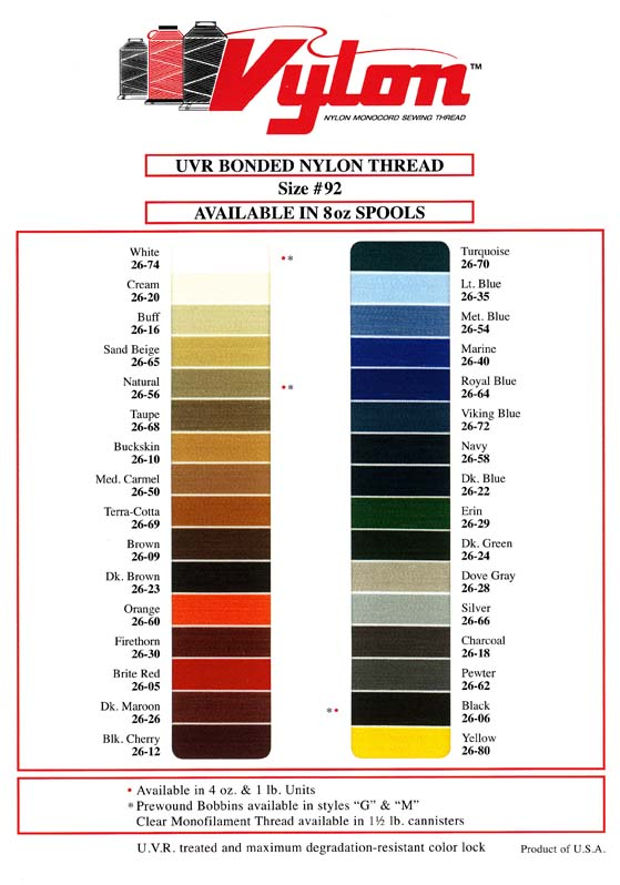 uvr bonded nylon thread